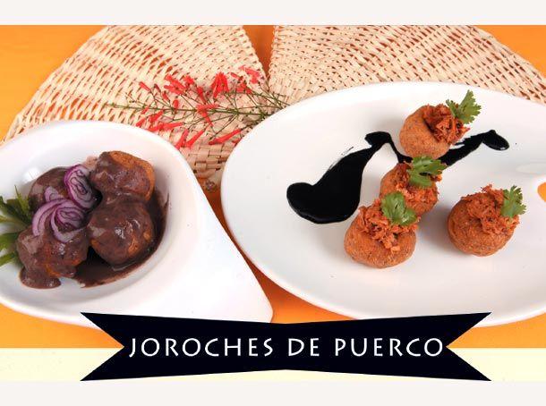 RECETAS YUCATECAS: JOROCHES DE PUERCO