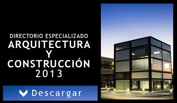 DIRECTORIO ESPECIALIZADO DE ARQUITECTURA Y CONSTRUCCIÓN 2013