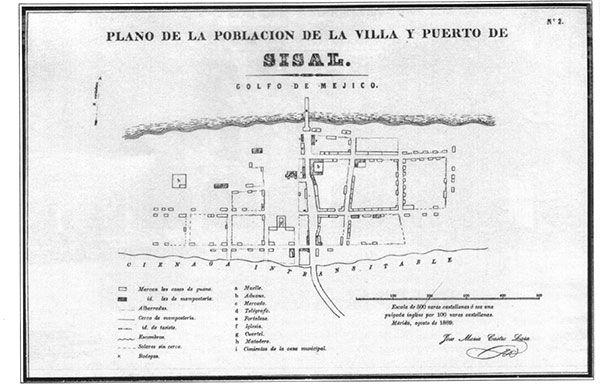 Plano de Sisal, Yucatán, México