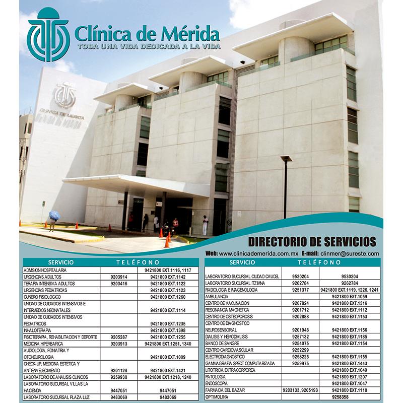 DIRECTORIO CLÍNICA DE MÉRIDA