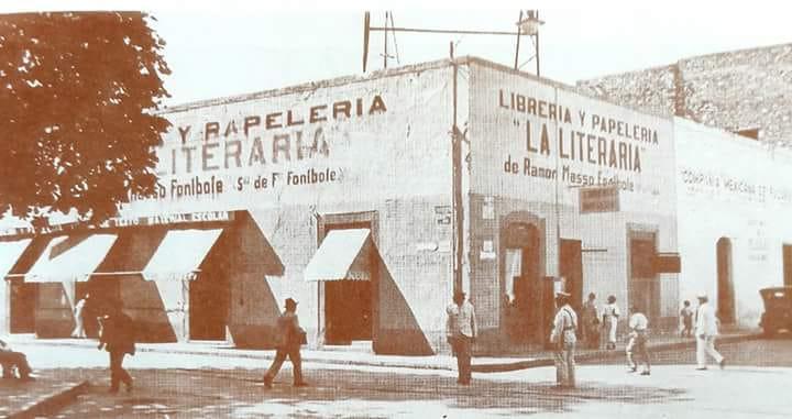 EL ANTIGUO EDIFICIO DE LA LITERARIA, CELEBRE LIBRERÍA DE MÉRIDA.