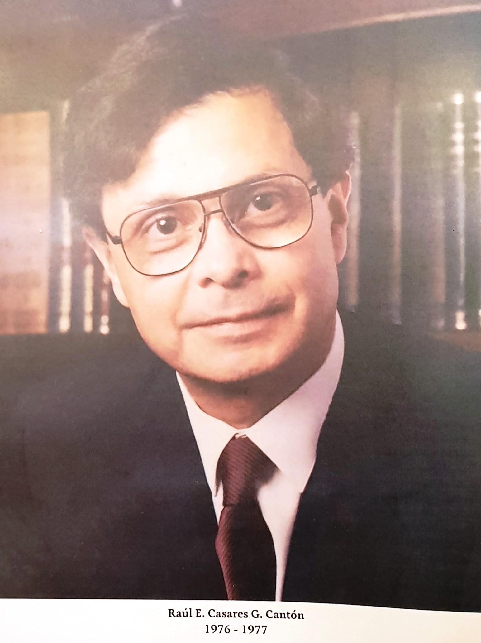 PRESIDENTE DE COPARMEX SR. RAÚL E. CASARES G. CANTÓN