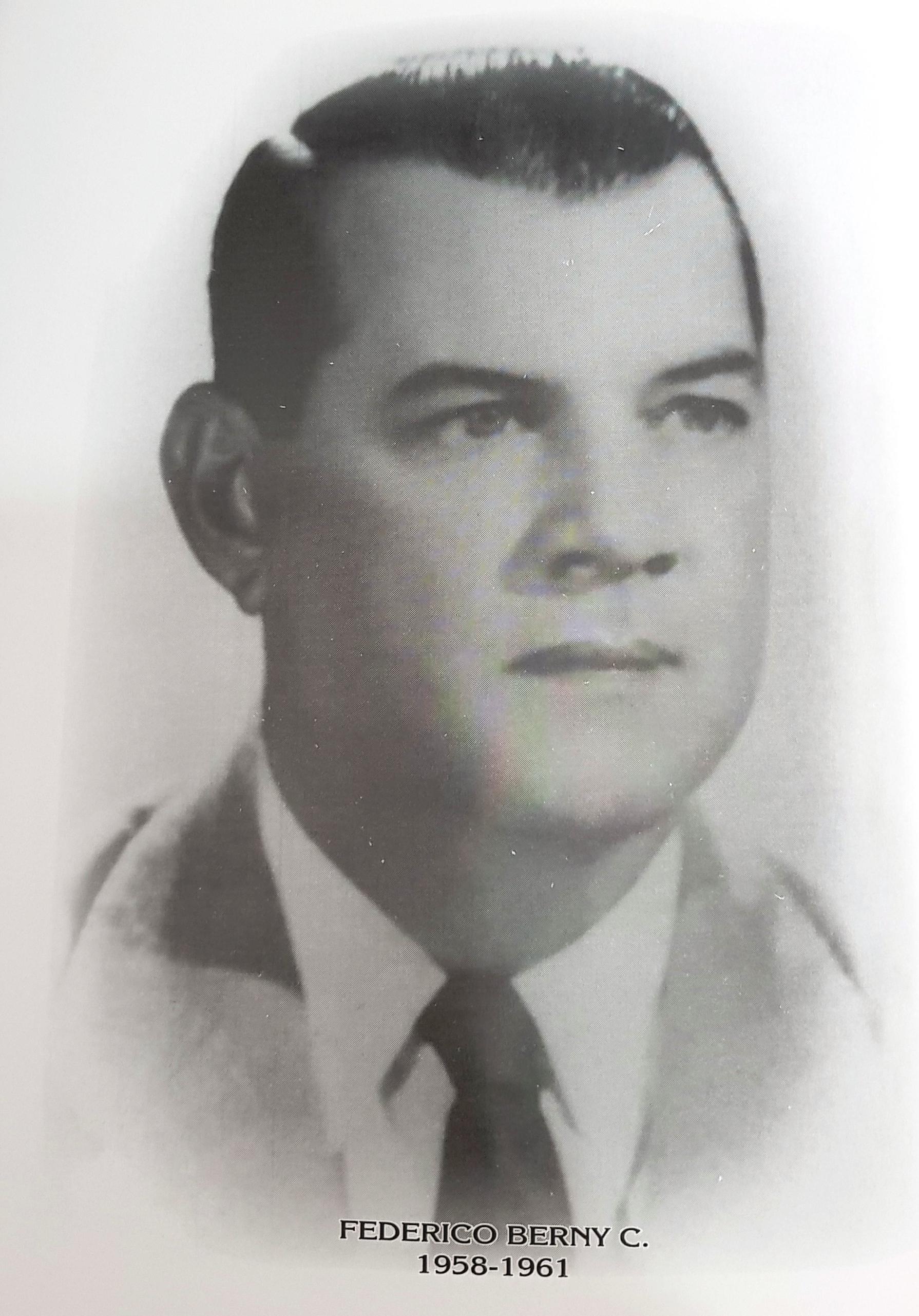 PRESIDENTE DE LA CÁMARA DE COMERCIO DE MÉRIDA SR. FEDERICO BERNY C.