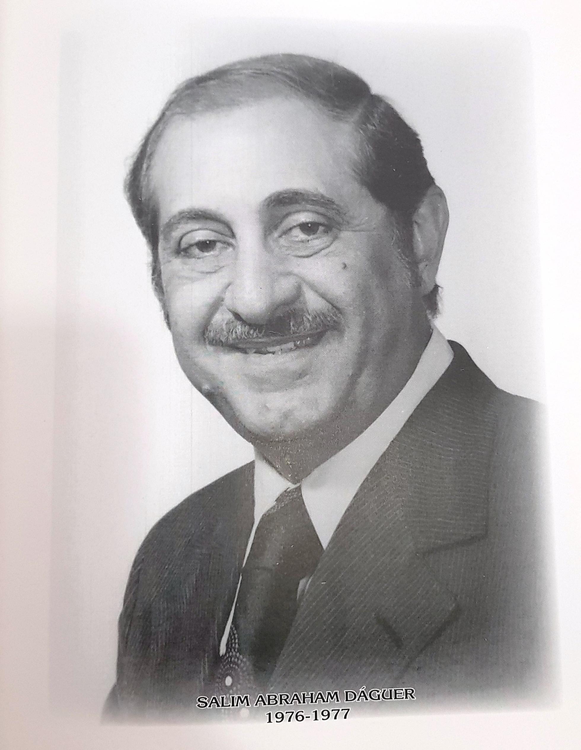 PRESIDENTE DE LA CÁMARA DE COMERCIO DE MÉRIDA SR. SALIM ABRAHAM DÁGUER