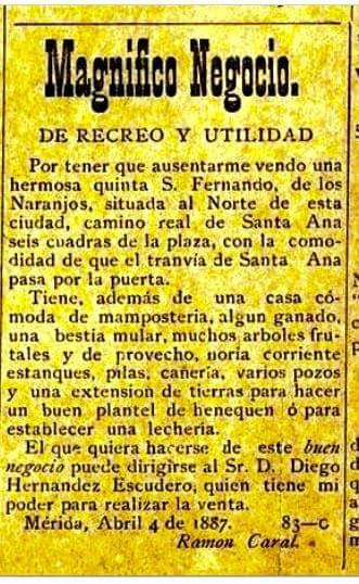 ANUNCIO DE PERIÓDICO DE 1887