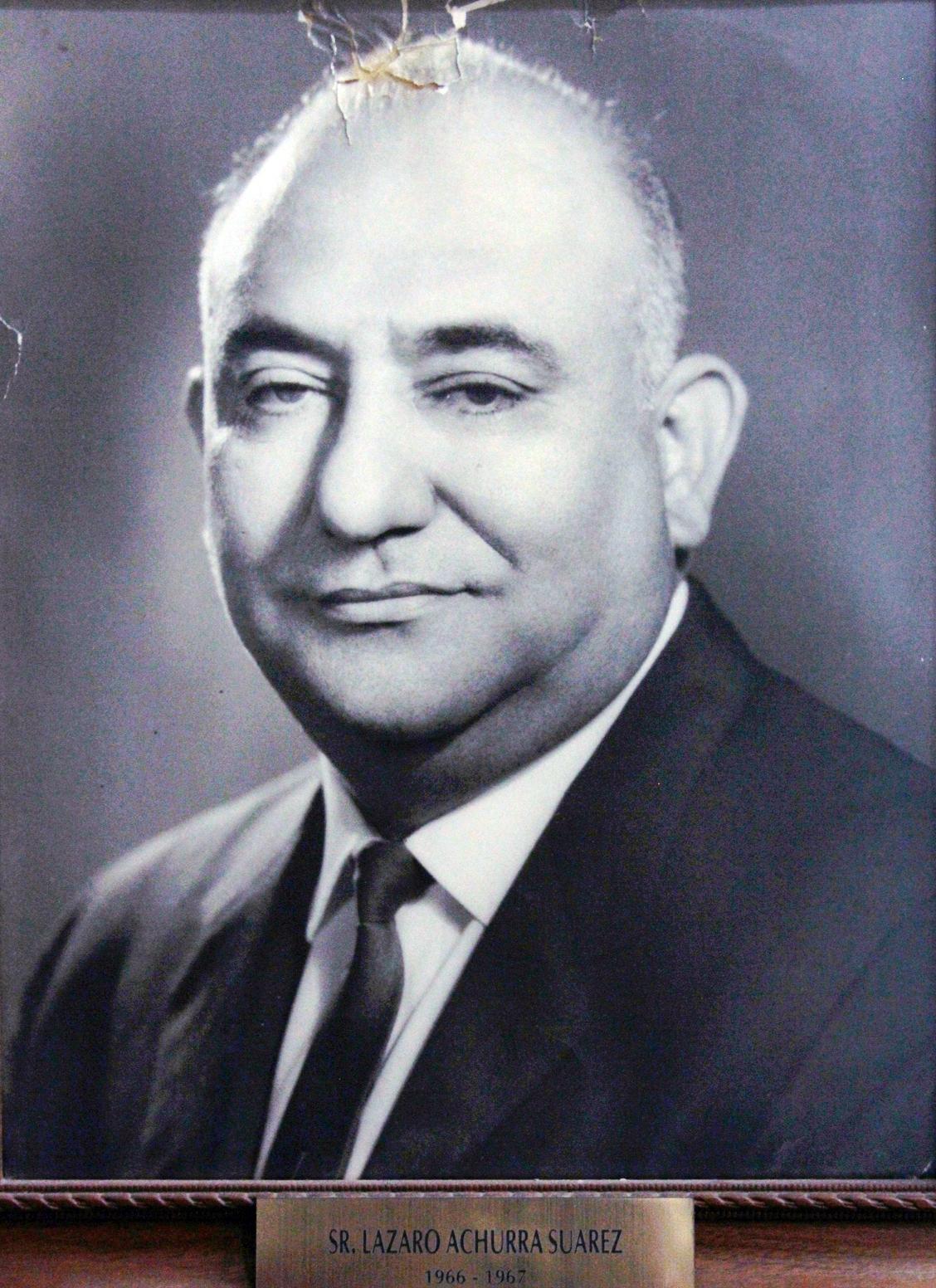 EMPRESARIO DISTINGUIDO SR. LAZARO ACHURRA SUAREZ