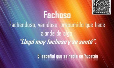 """FACHOSO: """"LLEGÓ MUY FACHOSO Y SE SENTÓ"""""""