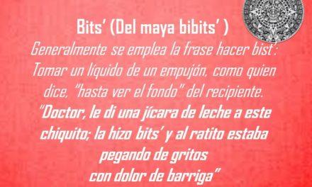 """BITS': """"DOCTOR, LE DI UNA JÍCARA DE LECHE A ESTE  CHIQUITO; LA HIZO BITS"""""""