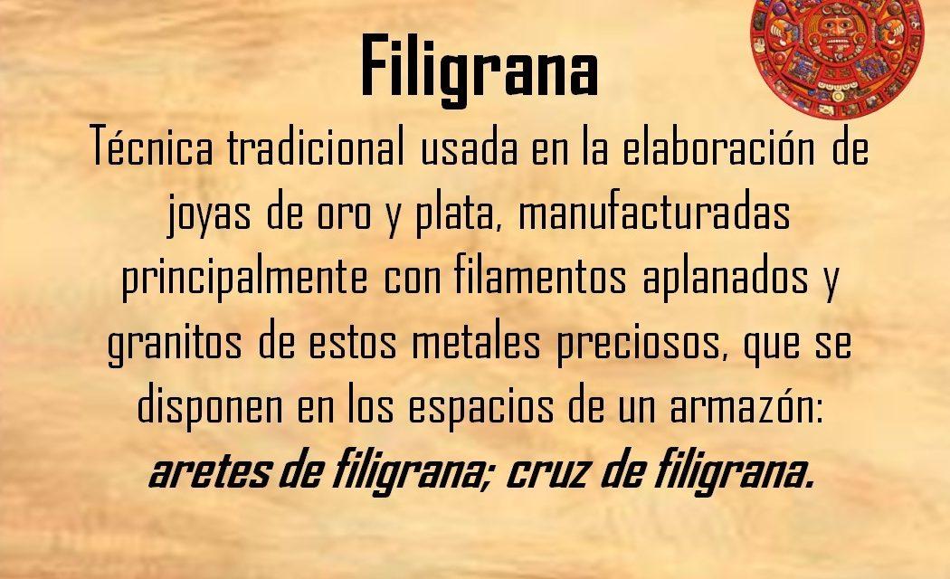 """FILIGRANA: """"ARETES DE FILIGRANA"""""""