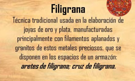 "FILIGRANA: ""ARETES DE FILIGRANA"""