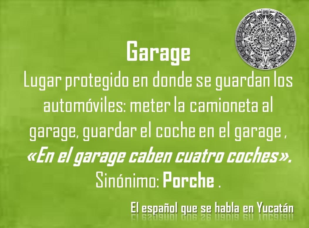 """GARAGE: EN EL GARAGE CABEN CUATRO COCHES"""""""