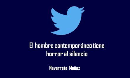 EL HOMBRE CONTEMPORANEO TIENE HORROR AL SILENCIO