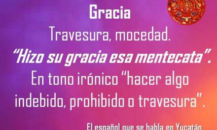 "GRACIA: ""HIZO SU GRACIA ESA MENTECATA"""