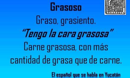 """GRASOSO: """"TENGO LA CARA GRASOSA"""""""