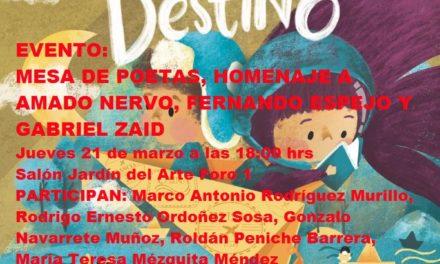 EVENTO FILEY 2019. MESA DE POETAS, HOMENAJE A AMADO NERVO, FERNANDO ESPEJO Y GABRIEL ZAID