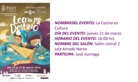 """EVENTO FILEY 2019. """"LA COCINA ES CULTURA"""""""