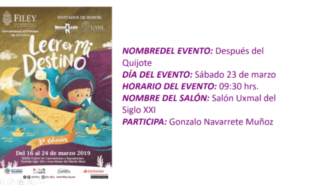 "EVENTO FILEY 2019. ""DESPUÉS DEL QUIJOTE"""