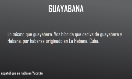 GUAYABANA, LO MISMO QUE GUAYABERA