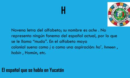 """H: """"NOVENA LETRA DEL ALFABETO"""""""