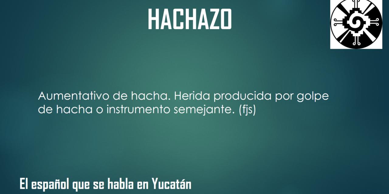 """HACHAZO: """"HERIDA PRODUCIDA POR GOLPE DE HACHA"""""""