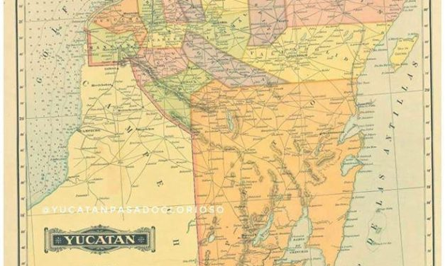 MAPA DE YUCATÁN DE 1884