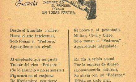"CANTINAS DE MÉRIDA, AGUARDIENTE AÑEJO ""PEDRERO"""