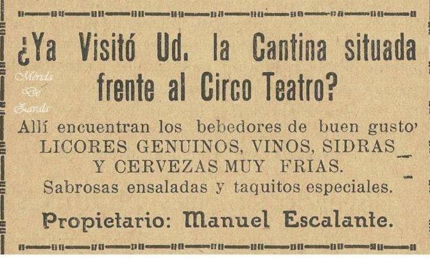 CANTINAS DE MÉRIDA… FRENTE AL CIRCO TEATRO
