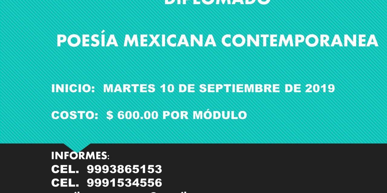 DIPLOMADO EN POESÍA MEXICANA CONTEMPORANEA