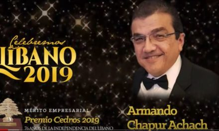 VIDEO:  ARMANDO CHAPUR:  PREMIO CEDROS 2019