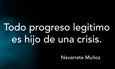 Tuit: Todo progreso legítimo es hijo de una crisis