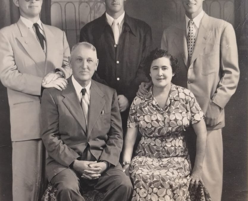 Los Goff…foto de 1945…el Pavo tenia 16 años