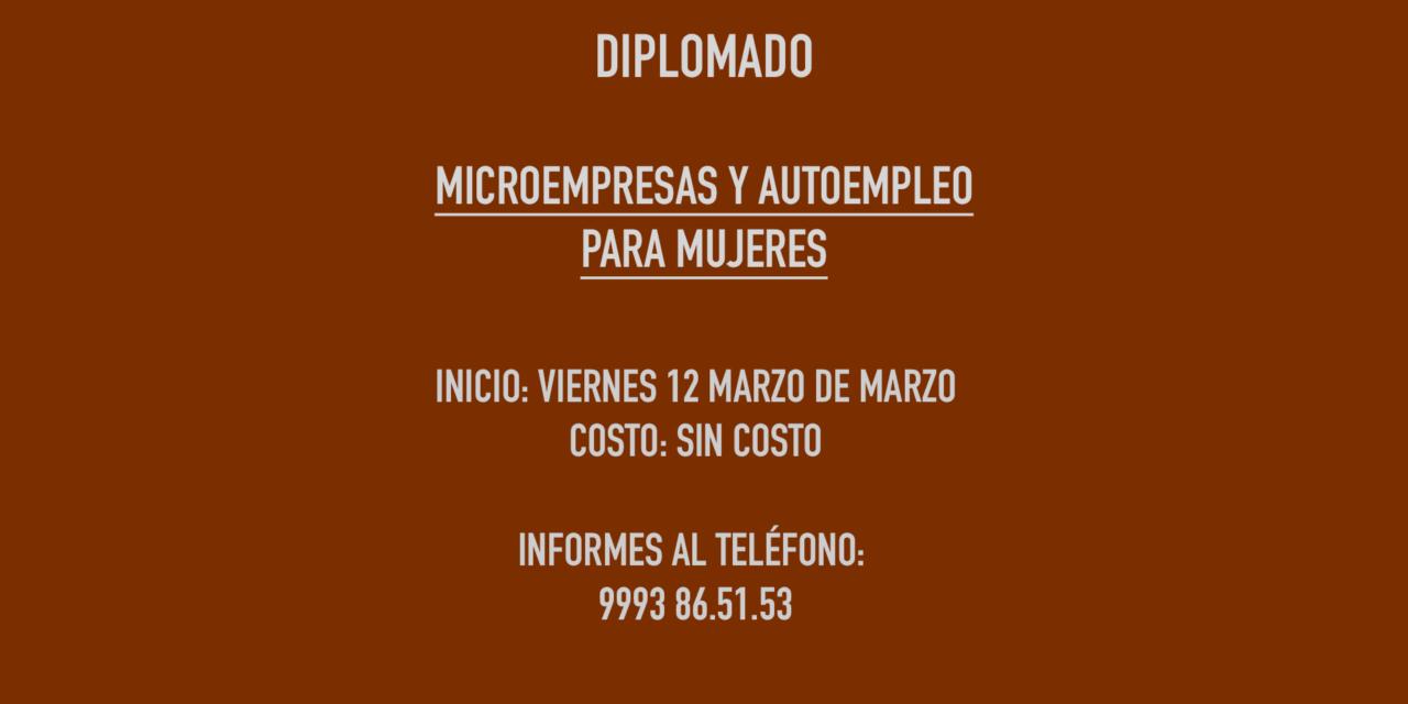 DIPLOMADO: MICROEMPRESAS  Y AUTOEMPLEO PARA MUJERES