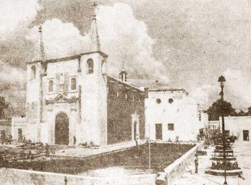 Templo de Santa Ana en el pasado